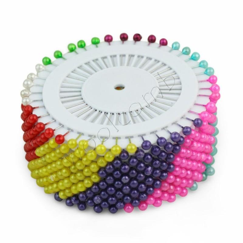 Kolorowe szpilki krawieckie na krążku - duże 55 mm 30 sztuk