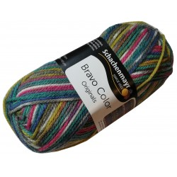 Włóczka Bravo Color - Melanż kolorów nr. 02084