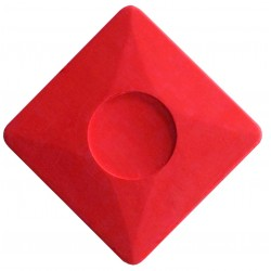 Kreda Krawiecka 5x5cm Czerwona Mydełko Krawieckie